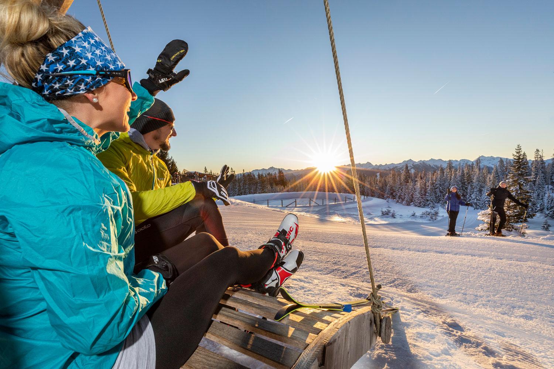 Langlaufen und Winterwandern in Filzmoos - Zimmer mit Frühstück - Pension Vierthaler